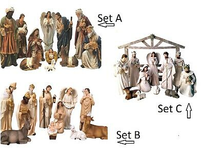 U PICK Nativity Scene Set 11pcs Resin Christmas Xmas Religious PICK UP OR POST