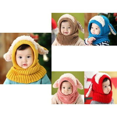 Xmas Clothes Knit Beanie Winter Fleece Scarf Hat Mask For Baby Girl Boy