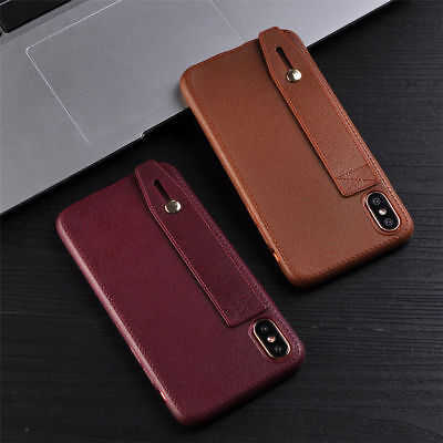 For iPhone 8 X Shockproof Luxury Retro Wallet Imitation Leather Soft Case Cover