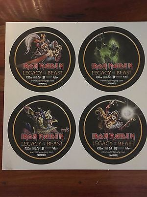 iron maiden legacy of the beast beermats new
