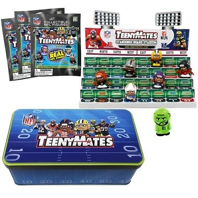 NFL Teenymates Series 6 Collector Tin With 3 packs, Ex Chase Piece,Stadium