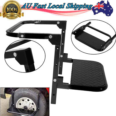 Wheel Step Tire Tyre Step Ladder Adjustable Foldable Wheel Ladder Van 4WD 4x4 AU