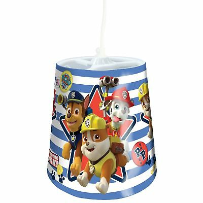 Paw Patrol Lamp Lighting Good Pups Tapered Light Shade Blue Perfect Gift NEW