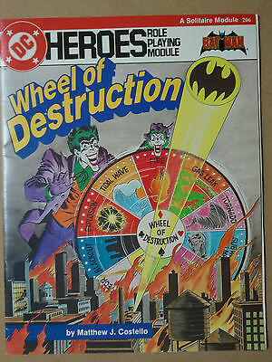 Batman Wheel Of Destruction DC Heroes Role Playing Module 206 1985 Vintage RPG