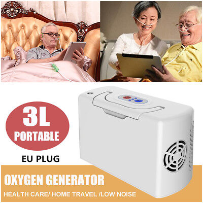 3L/Min Low Noise Portable Oxygen Concentrator Generator Health Care Home Travel