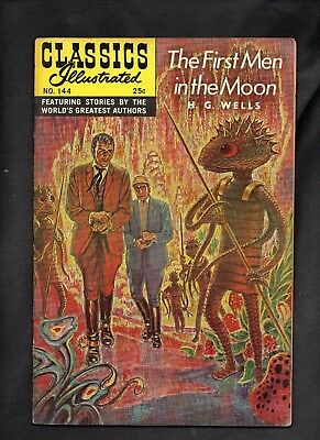 Classics Illustrated #144 Fine  Hrn166 (The First Men In The Moon) H G Wells
