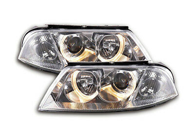 VW Passat 3BG Saloon/Estate 2000-2005 Chrome Angel Eyes Headlights RHD FREE P&P
