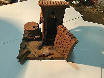 Handmade Pottery Shed Sculpture