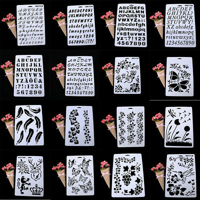 20 Types Lettering Stencil Letter Alphabet Stencils Painting Paper Craft Number