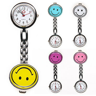 Smiley Nurse Fob Watch Different Colours Stainless Steel Back UK