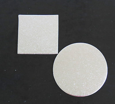 "8"",9"",10"",11"",12"",14"" Cardboard Cake Board Round / Square Silver  Thickness 2mm"