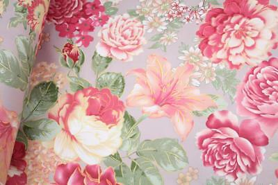 "Vintage Floral 100% cotton fabric sold by the meter 63"" super width 1709111"
