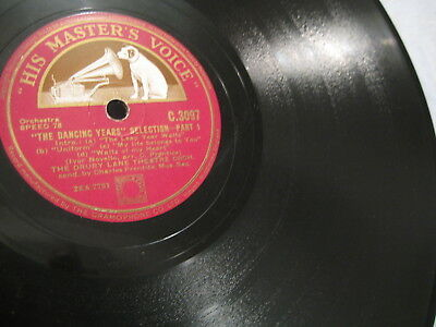 """12"""" - Drury Lane Theatre Orch: """" Dancing Years """" Selection - 1939 UK ( 2,00€ )"""