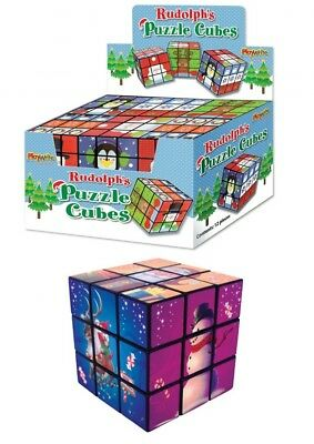 12 Christmas Puzzle Cubes Pocket Money Toys Grotto Lucky Dips Prizes Party