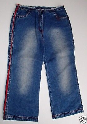 BNWT Girls Denim 3/4 Length Capri Cropped Jasper Conran Jeans Trousers Age 14