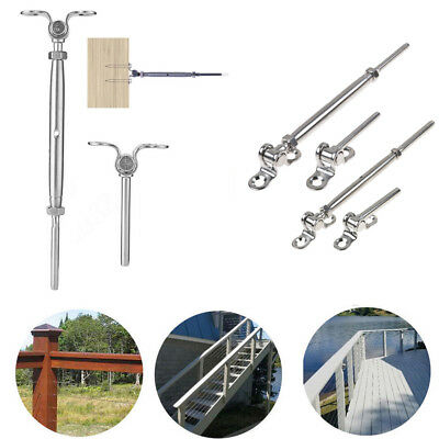 """T316 Stainless Steel Deck Toggle Tensioner Set for 3/16"""" 1/8""""  Cable Railing AU"""