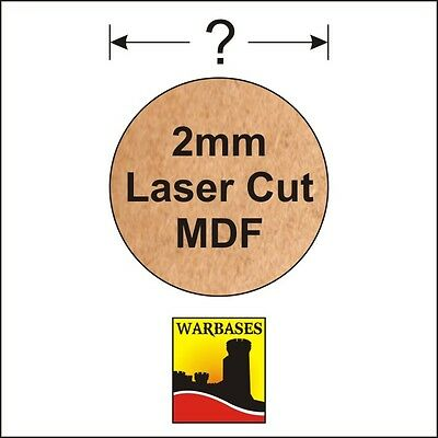 2mm MDF Round Bases for Wargames, suitable for all scales, periods and genres