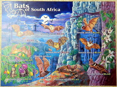 2001 South Africa Bats of South Africa Minisheet Stamps MNH