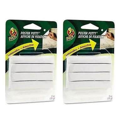 Duck Poster Putty Removable Reusable Nontoxic (2 oz.) 2 Pack - Brand New Item