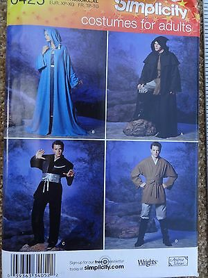 Simplicity #0425 PATTERN Costumes for Adults Hooded Robe, Tunic, Hobbit