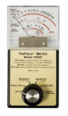 Trifield 100XE EMF Meter Detects AC Magnetic Electric Fields & Radio Microwaves