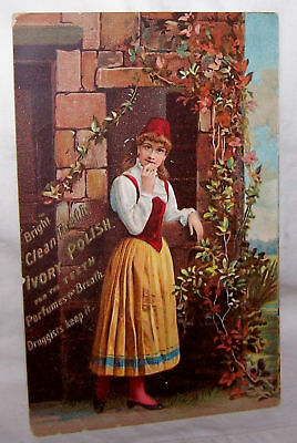 Trade Card-Flemings Liniment-Tooth Polish-Pittsburgh Pa
