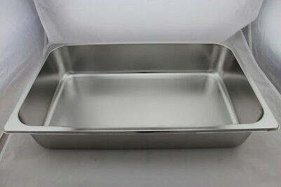 Stainless Steel Bain Marie Tray 1/1 Size (100mm depth)