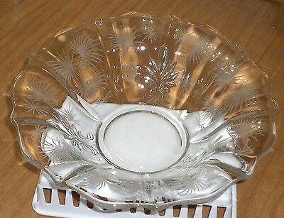 Vintage Fostoria Glass Baroque Lido Etched Bowl