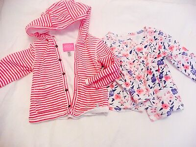 2x Cardigans 3-6 Months Girls Joules Pink Striped Jackets