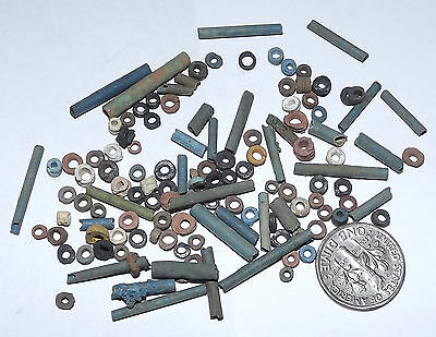 More than a Hundred 2500 Year old Ancient Egyptian Faience Mummy Beads (#G1628)