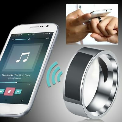 Magic Silver Smart Ring Stainless Steel NFC Wearable