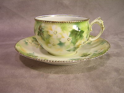 R.S. Prussia Floral Cup & Saucer