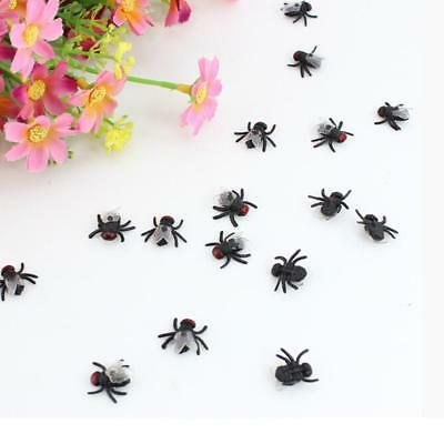 10pcs Halloween Fake Flies Simulated Insect Joke Prank Figure Tricky Fly ToyG