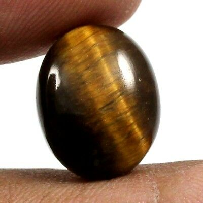 10.20 cts 100% Natural Untreated Tiger Eye Gemstone Oval Shape Loose Cabochon