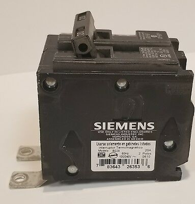 New Siemens Bl220 B220 2 Pole 20 Amp 120/240 Breaker Type Bl Bolt On Single Pole