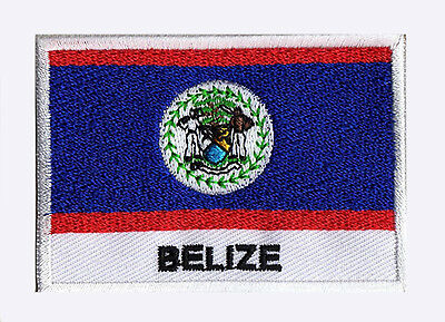 patch embroidered badge patch flag Belize Belize 70/45 mm