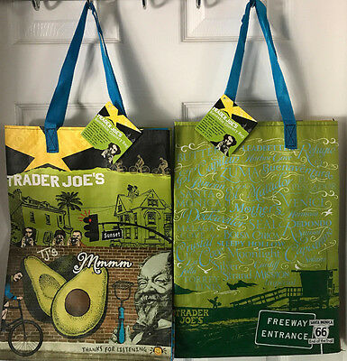 Trader Joe's Reusable SoCal Exclusive Shopping Bag x2