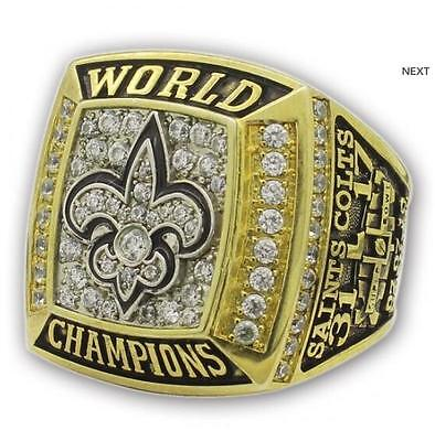 High quality 2009 New Orleans Saints World Championship Ring size 7 - 14