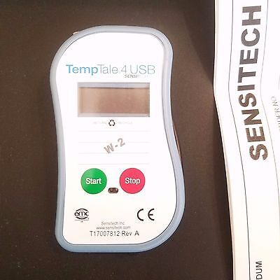 Sensitech TempTale 4 USB Temperature Monitor TT4 Multi Alarm (Exp April 2018)!