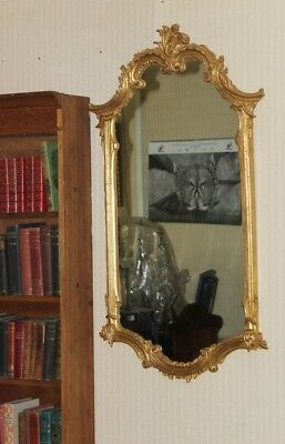 Vintage Large Ornate Carved Gilt wood Wall Mirror - FREE Delivery [PL3888]
