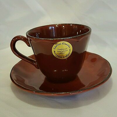 Grindley Colonial Classics Cranberry Cup and Saucer
