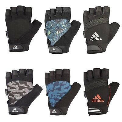 Adidas Mens Half Finger Performance Weight Lifting Gloves Training Gym Workout