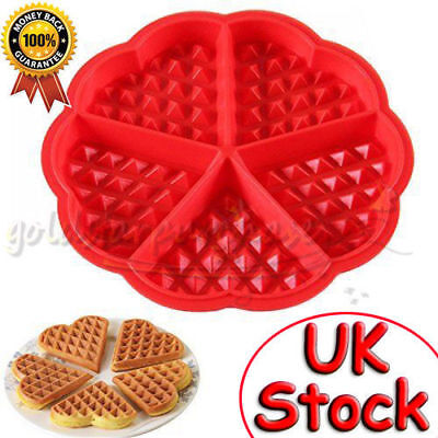 DIY Silicone Waffles Pan Cake Baking Baked Muffin Cake Chocolate Mold Mould Tray