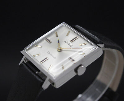 New Old Stock 60s DUWARD DIPLOMATIC Mechanical vintage watch NOS SWISS MADE