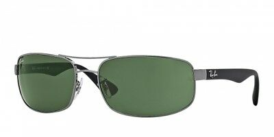 Ray Ban RB3445 004 61 Gunmetal Black Frame / Green Classic G-15 Lenses