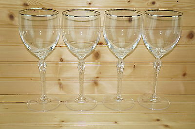 Lenox Madison Crystal (4) Water Goblets, Glasses, 8 1/2""