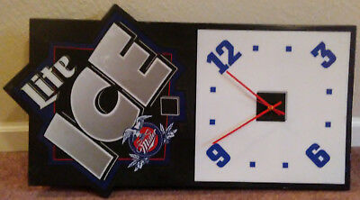 "Vintage Miller Lite ""Ice"" Wall Clock/Light - 1996"