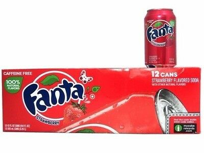 Fanta Strawberry. American Import (Pack of 24) 355ml Cans - Free Shipping