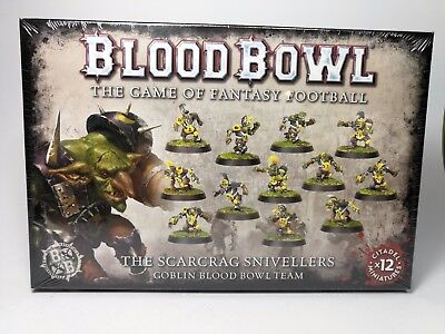 Blood Bowl - the Scarcrag Snivellers - Goblin Team - 12 Miniaturen - OVP