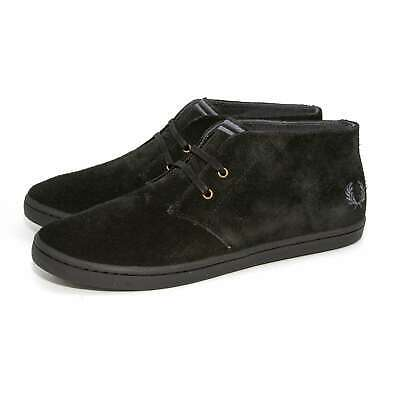 3eabda0e3dc Fred Perry Mens Byron Mid Suede Ankle Casual Chukka Boot Beige Black Shoes